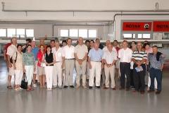 Joe Sutter z Lojzetom Peterletom, Ivom Boscarolom in sodelavci ob obisku v Pipistrelu leta 2006
